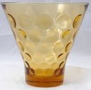 Honey Amber Glass Bubble Dot   Vase