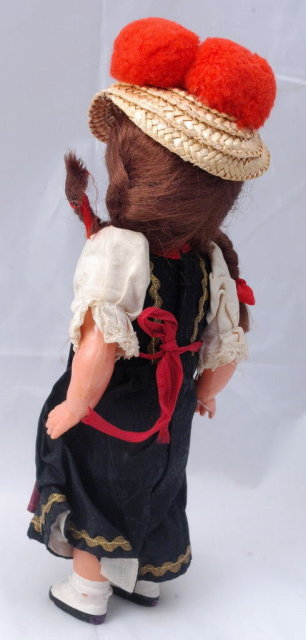 Little German  Doll   Wind Up  Dancing Girl  9