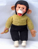 Rubber Face Chimpanzee  Mohair  Doll  Zippy  Straw Stuffed