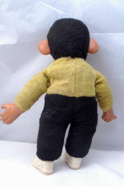 Rubber Face Chimpanzee  Mohair  Doll  Zippy  Straw Stuffed