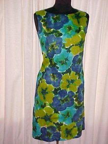 Hawaiian Sleeveless  SHEATH Dress,  Made in Hawaii, Andrade,  1960's