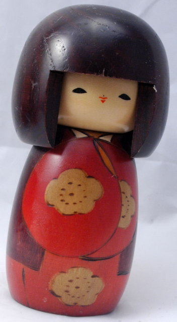 VINTAGE!   Kokeshi Japanese Traditional Wood Doll
