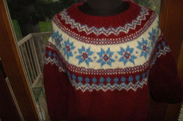 Austrian Sweater Hand Knit  Salzburg-Wien Innsbruck   Sz 52  * PRICE REDUCED !**