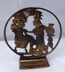 Egyptian Scene Brass Bookends