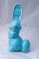 Pottery Rabbit Thermometer Holder  -strange - freaky  looking