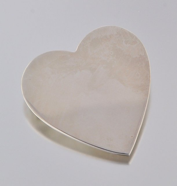 Tiffany & Co Sterling Silver Heart Pin - Large