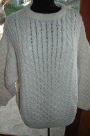 Cladurknit Irish Fisherman Traditional  Aran Cable Knit Wool Sweater SZ L