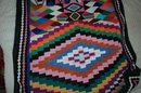 Southwestern Native American Motif   Woven Throw, Afghan or Baby Blanket or Lap Blanket