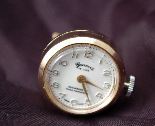 Cuff Link Swiss Watch  (single cuff link) Manual wind