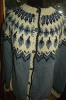 Slate Blue Icelandic Wool Sweater    Large