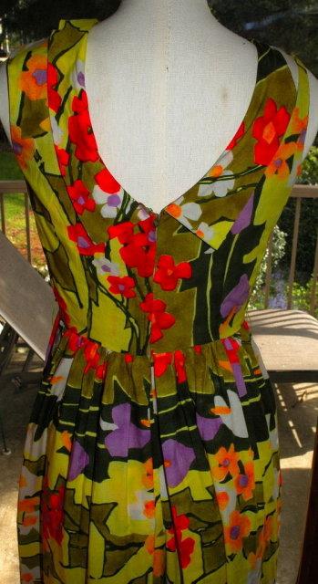 Vintage Dress, Marjorie Hamilton, Vancouver, culottes  pant dress, 60's