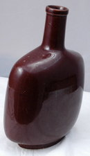 Brown Stoneware Ceramic Bottle Flask
