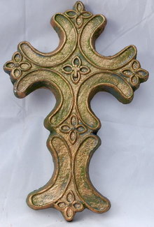 Plaster Cross Wall  Plaque Decor* PRICE REDUCED !*