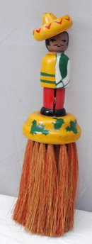 Old Wooden Mexican Man Clothes Brush