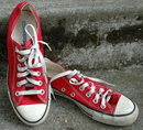 Cherry RED Vintage Converse Low top All Star Sneakers  5.5