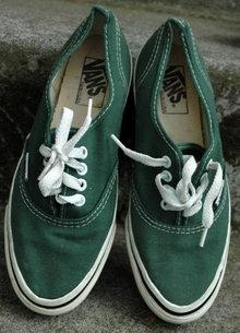 Vintage Green Van's Sneakers ladies 7.5