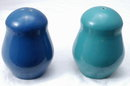 Pottery Ringed Salt & Pepper Shakers ? Fiesta ? Bauer?