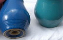 Pottery Ringed Salt & Pepper Shakers ? Fiesta ? Bauer?