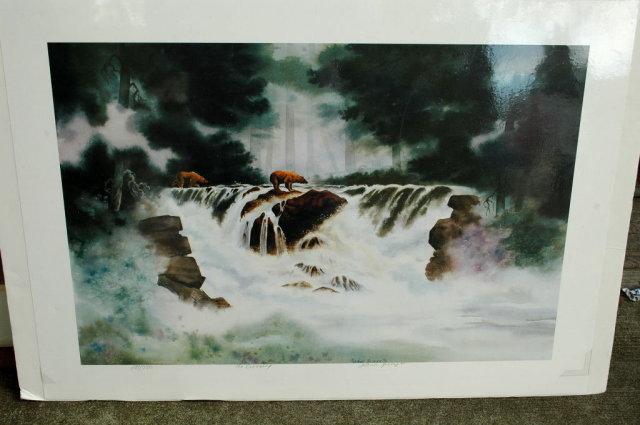 Alaska Bears, JoAnn George Signed , Numbered Limited Ed. Print