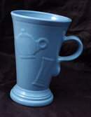 Homer Laughlin Fiesta Evergreen Cappuccino Mug Slate Blue