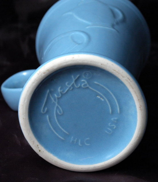 Homer Laughlin Fiesta Evergreen Cappuccino Mug Slate Blue