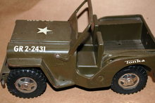 Vintage Tonka  Toy Army Jeep GR 2-2431.