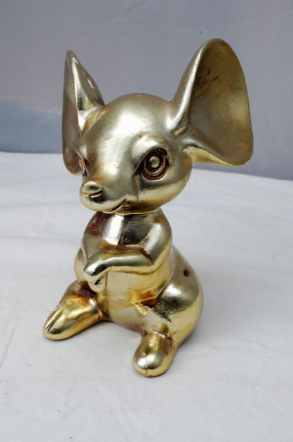 Big Ear Mouse Figurine - Made in Japan- red sticker