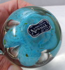Norcrest  Bubble Glass Paperweight  3.5
