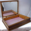 Victorian Wood / Glass Bon Bon Box  made into Jewelry box PRICE REDUCTION!