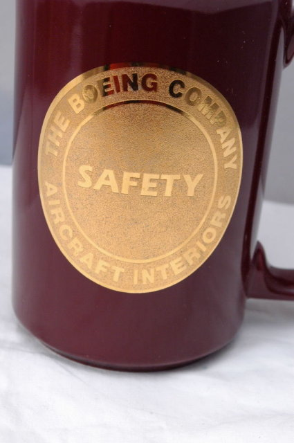 Boeing Company Aircraft Interiors Safety Mug