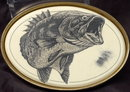 Barlow  Scrimshaw Bass Belt Buckle