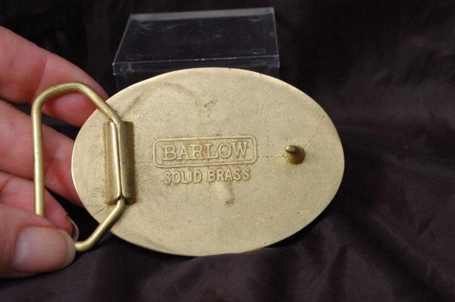 Barlow  Scrimshaw Bass Belt Buckle