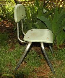 Retro Child's Chrome & Plastic Chair   Carter Crafts Plano TX