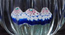 Fluted Cased Glass  Millefiori Paperweight PRICE REDUCTION!
