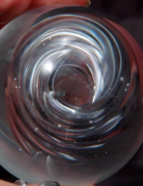Blenko Glass Spiral Twist Paperweight  Vintage