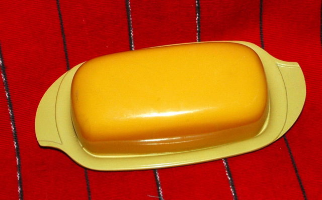 Vintage Melmac  Yellow Butter Dish with style * PRICE REDUCED !*