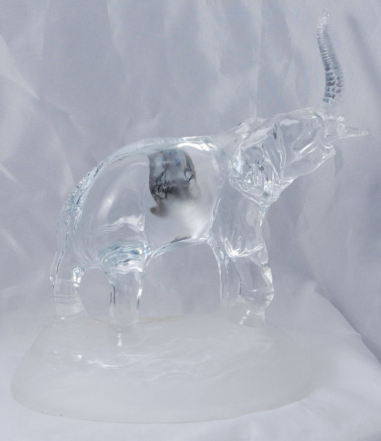 CRISTAL D'ARQUES  ELEPHANT  MADE IN FRANCE