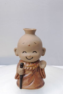 Comical Buddhist Monk by Kato Kogei  Sake Bottle or Soy Serving Bottle PRICE REDUCTION!