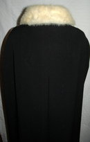 Frank Gallant Vintage Couture Wool Cape with White Mink Collar PRICE REDUCTION!