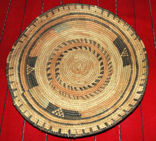 OLD AFRICAN HAUSA TRIBE HAND WOVEN BASKET