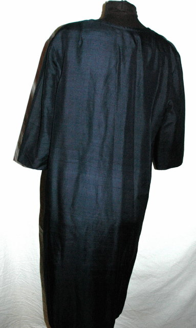 Silk Dress Coat  Midnight Blue  * PRICE REDUCED FOR QUICK SALE! **