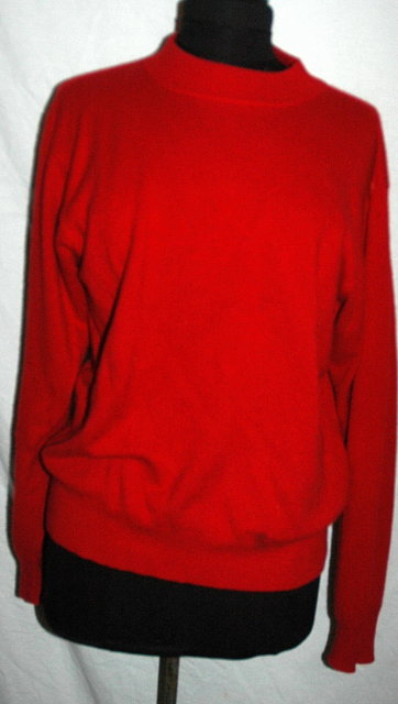 Red Cashmere Sweater by Danielle Martin.size Large