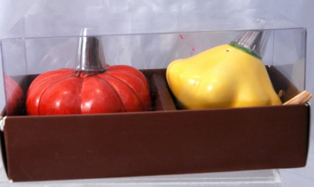 Pumpkin & Squash Salt & Pepper Set , New in package