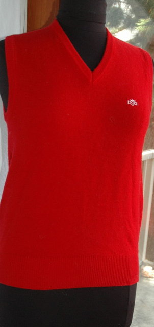 RED PGA V neck Sweater Vest
