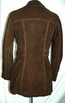 70's Retro Western Leather  Montgomery Ward  Tannery Coat  Rough Side Out Suede Coffee Brown Leather