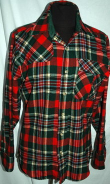 80's Wool Plaid Pendleton Lobo shirt, small