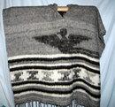 Wool Poncho Serape from Momostenango   Guatemala Hand Spun &  Woven  Natural Wool