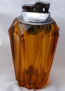Amber Glass Table Lighter