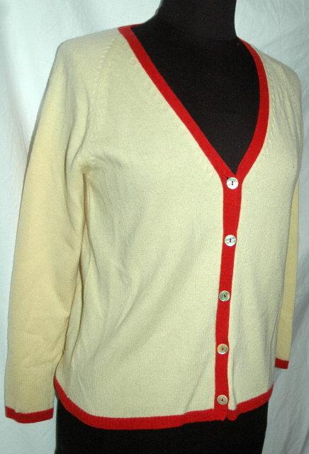 Marina Sinibaldi Benatti   Italian Cashmere Cardigan Sweater