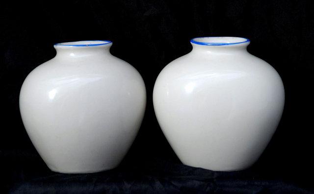 Johann Haviland Hand Painted & Signed  Bavarian Dancers Vases , x 2